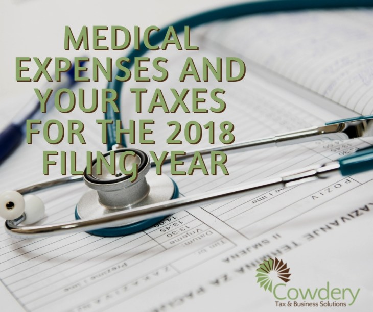 Medical Expenses and Your Taxes | CowderyTax.com #taxes2018 #medicalexpenses