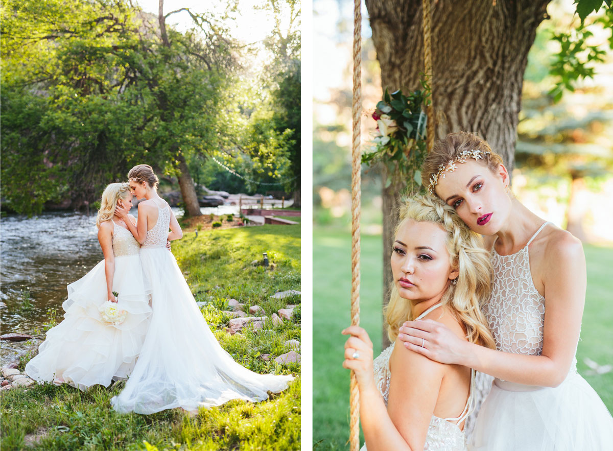 A Modern Lesbian Wedding Styled Shoot  Colorado Weddings Magazine  Luxe Mountain Weddings Magazine