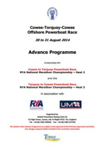 2014 Advance Programme