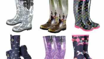 Horse Print Rain Boots