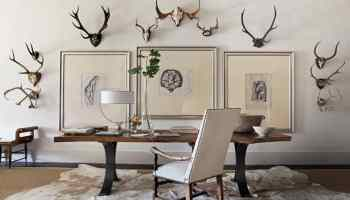 cowhide rug office home