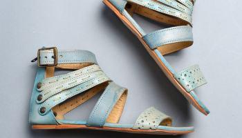Beautiful blue footwear from Bed Stu