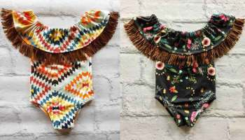 onesie babe baby babies baby clothes aztec floral fringe turquoise cowgirl magazine