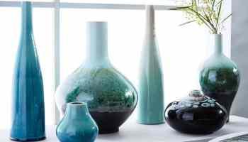 Turquoise vases West Elm Cowgirl Magazine