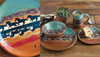 horse reflection dinnerware cowgirl magazine