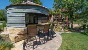 dreamscapes inc silo outdoor kitchen patio backyard cowgirl magazine