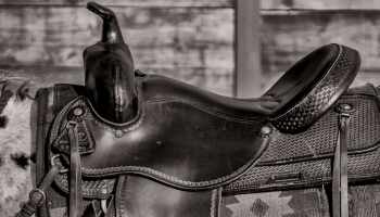 saddle in black and white cowgirl magazine
