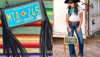 chris west originals license plate bags cowgirl magazine