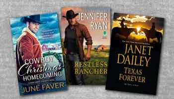 texas forever cowboy christmas homecoming restless rancher book covers on gray background cowgirl magazine