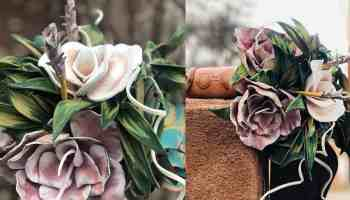 leather flowers leather petals leather bouquet cowgirl magazine