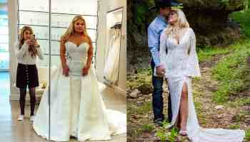 Alexis Bloomer wedding dress cowgirl magazine