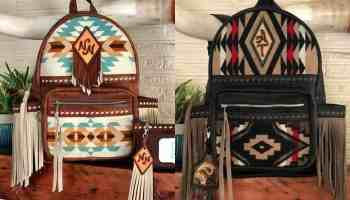 wild and woolly leather leather backpack pendleton backpack fringe backpack cowgirl magazine