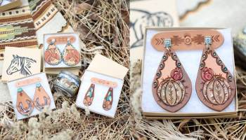 leather earrings cowgirl magazine