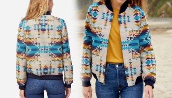 bomber jacket pendleton cowgirl magazine