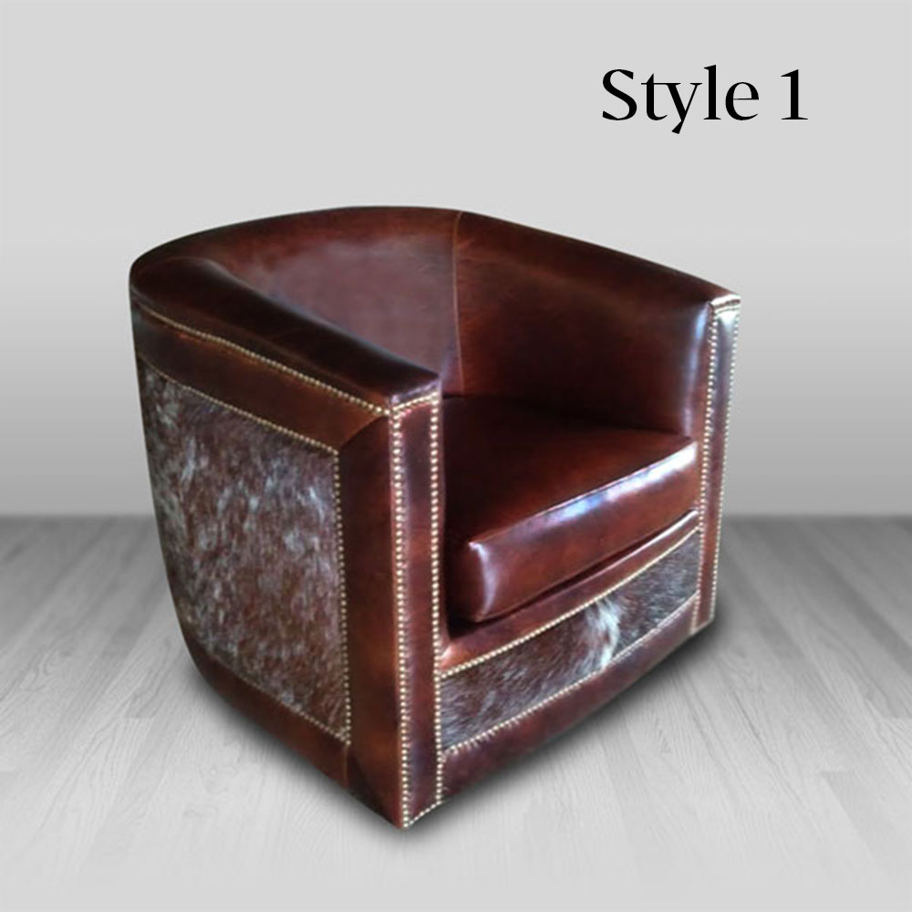 Western Chairs Barrel Chair
