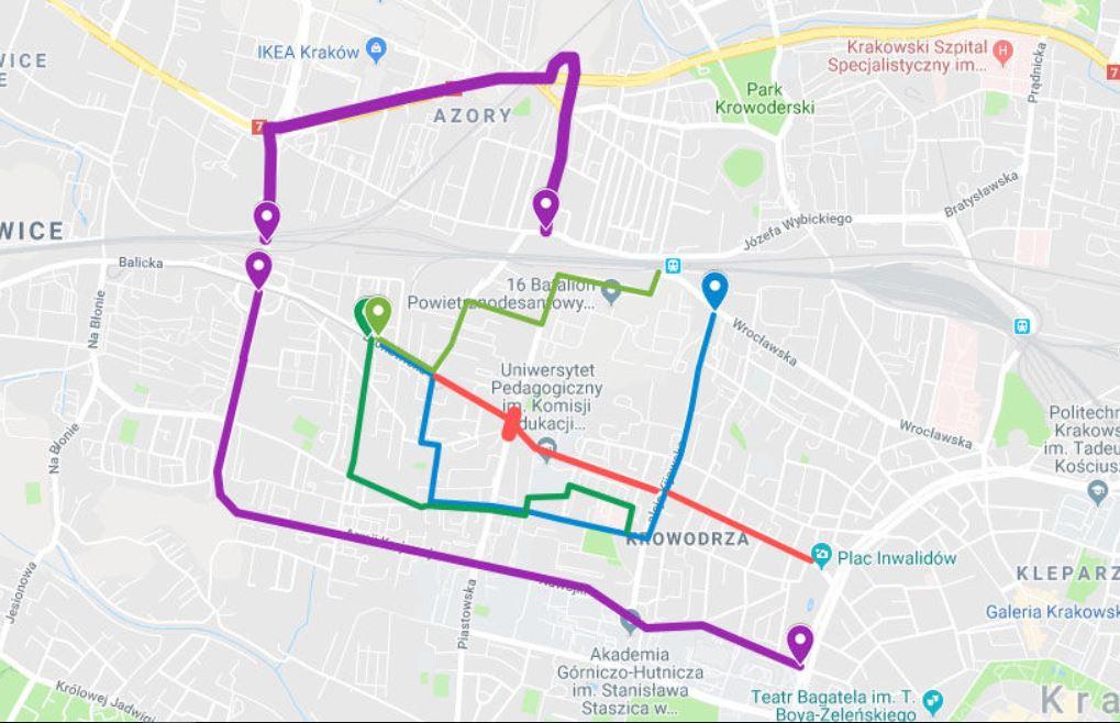 Remont Trasy Do Bronowic Zmiany W Organizacji Ruchu Mapa