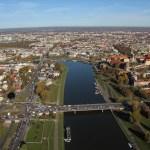 Kraków widziany z balonu widokowego