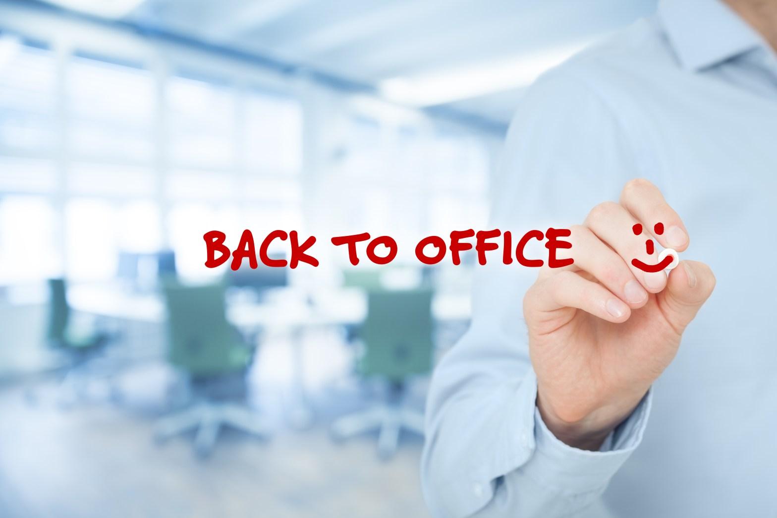 vuelta a la oficina