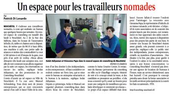 Article Courrier Neuchâtelois