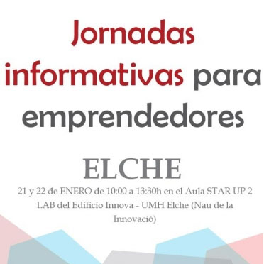 Jornadas informativas para emprendedores en Elche.