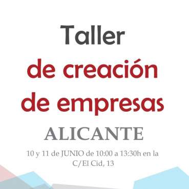 Taller Crea tu Empresa. Alicante