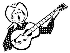 Singing Cowboy Cartoon