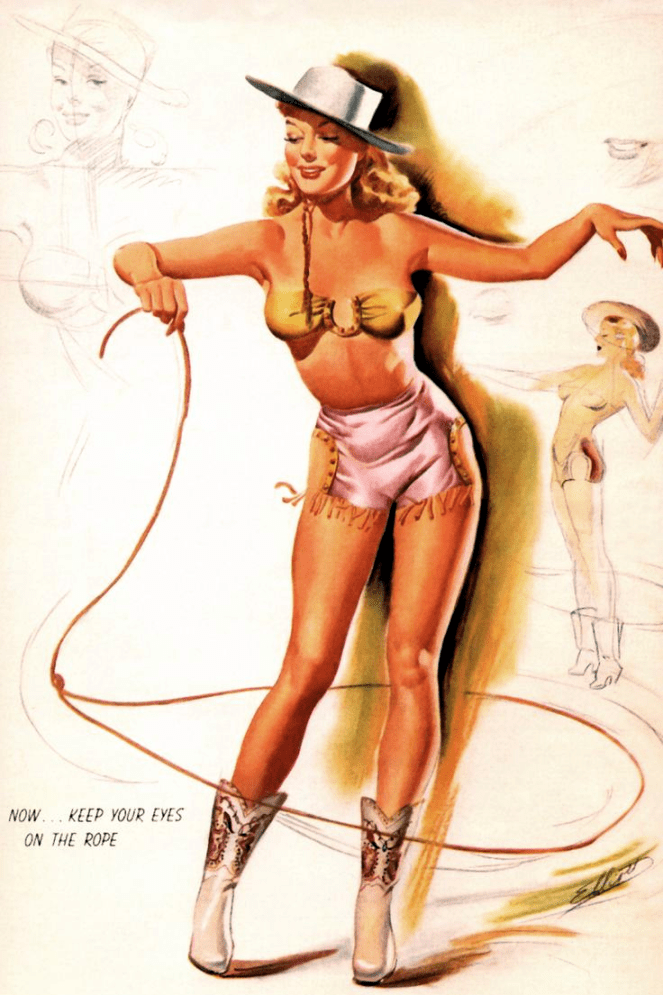 Keep Your Eyes On The Rope (Pinup Girl)