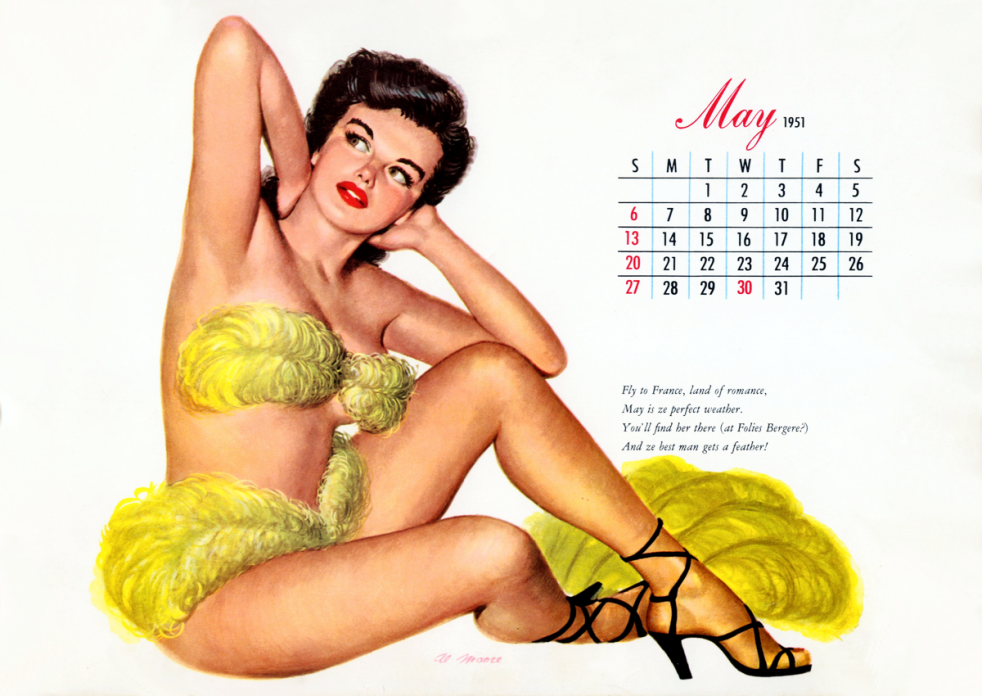 May 1951 Esquire Pinup (Image)