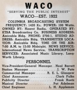 WACO Radio Directory (Image)