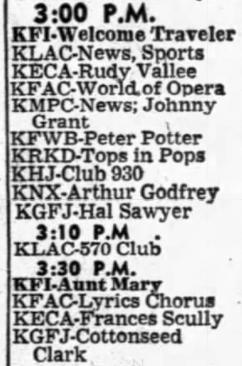 KGFJ Radio Schedule (Image)