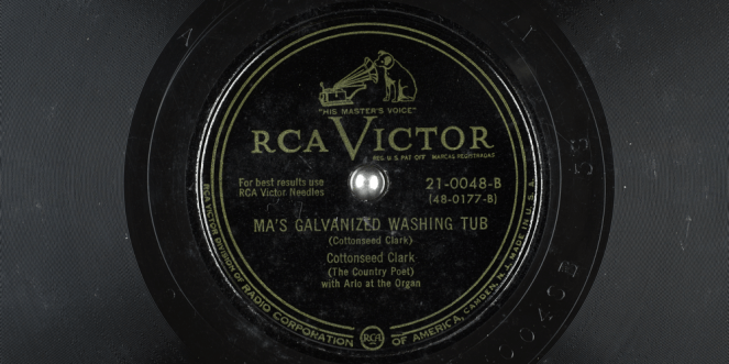 Ma's Galvanized Washing Tub (Record Label)