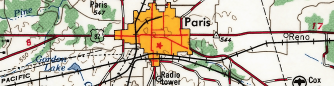 USGS Map of Paris, Texas (Image)