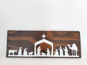 coxandthehen - nativity scene wood sign