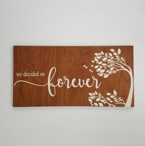 We Decided on Forever - DIY - Wedding Sign - Wedding Decor - Love Sign - Wood Sign SVG - Wood Sign Stencil - DIY Sign - Wood Sign Cut File - coxandthehen