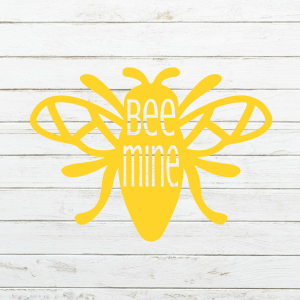 Bee Mine SVG - Valentines Svg - Bee Svg - Valentine's day - Cricut - Cameo - Cutting File - Png svg dxf eps - Commercial use