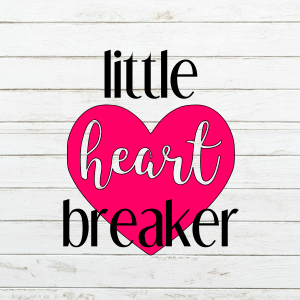 Little Heart Breaker SVG - Valentines Svg - Valentine's day - Heart Breaker - Cricut - Cameo - Cutting File - Png svg dxf eps - Commercial