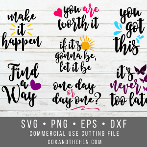 Positive Affirmations SVG Bundle - Mindset Quotes - Positive SVG - You got this - Quote SVG - Commercial Use – Cricut – Png svg dxf eps