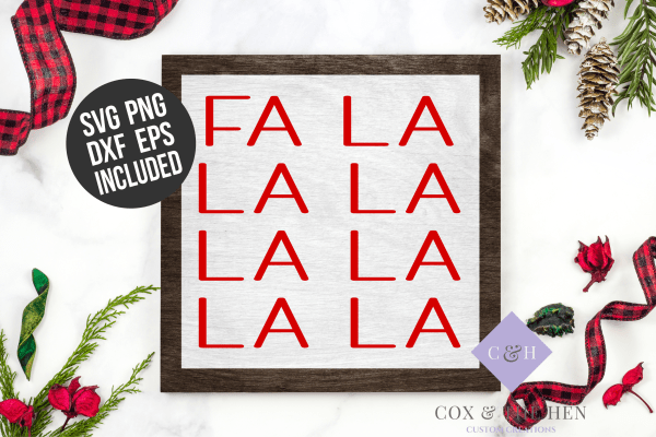 Fa La La La Wood Sign Cut File - Wood Sign Stencil - Wood Sign Svg - SVG File - Cutting File - commercial use cut file - sign stencil svg - fa la la la la la la - christmas svg - Fa La La La Sign - Christmas Wood Sign Stencil SVG - christmas stencil for wood sign
