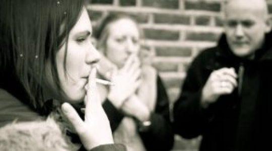 NCH Smokers stock photo
