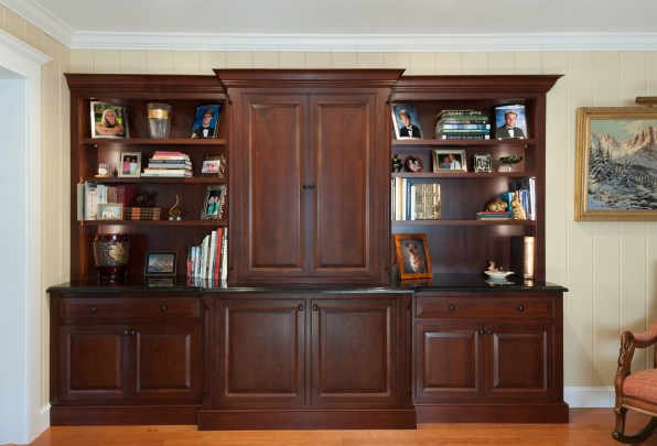 Custom entertainment center and bookcase