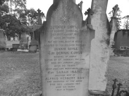 Memorial Headstaone for Bridget Coyle, Denis Coyle & Sarah Day at Rookwood Cemetery, Sydney