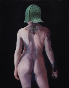 """Standing Female Nude"" 2016 Oil on Linen 14""x11"""
