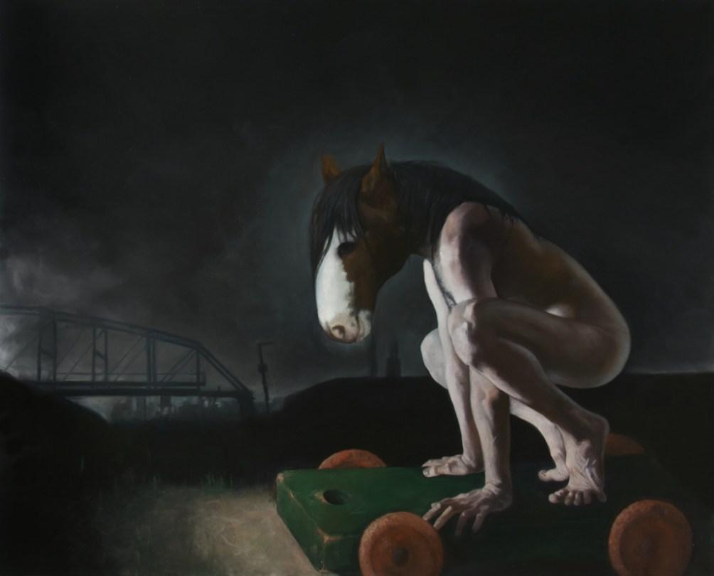 """Hobbyhorse"" 2012 Oil on Linen, 62""x50"""