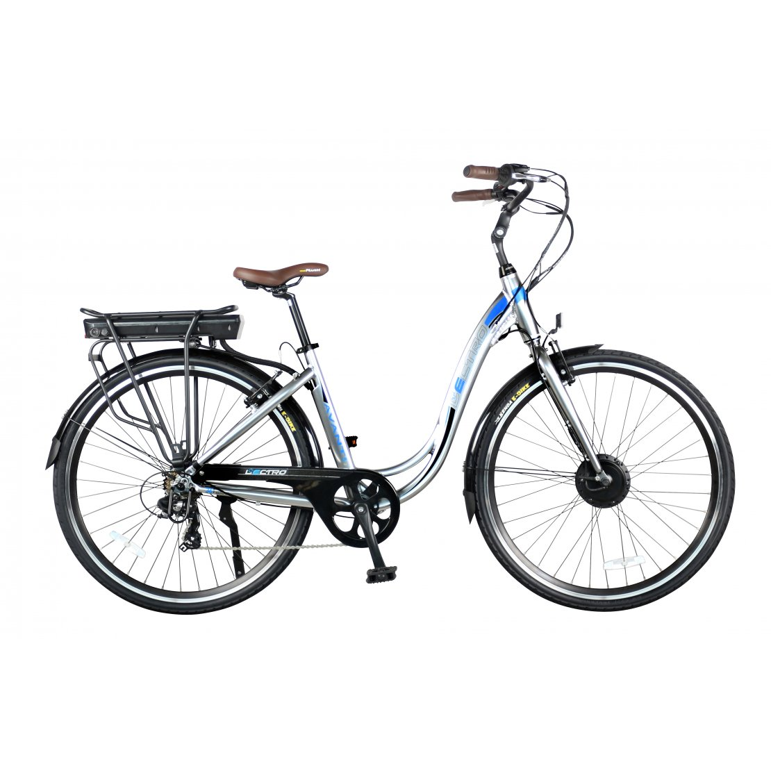 18 Avanti 7 Speed 36v E Bike 700c Wheel Silver