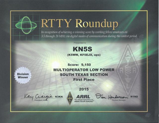 KN5S 2015 RTTY Roundup