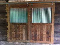 Tin Barn Doors & Pole Barn Build 5 - Roof Tin Stairs Doors ...