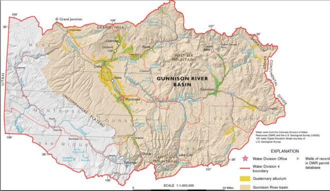 Gunnison River Basin via the Colorado Geological Survey