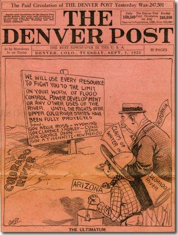 Upper Basin States vs. Lower Basin circa 1925 via CSU Water Resources Archives