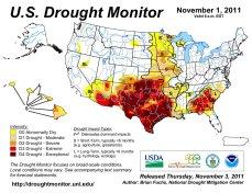 US Drought Monitor November 1, 2011