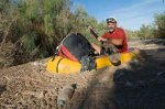Jonathan Waterman paddling the ooze in the Colorado River Delta